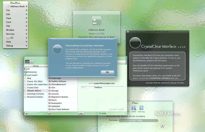 CrystalClear Interface Screenshot 3