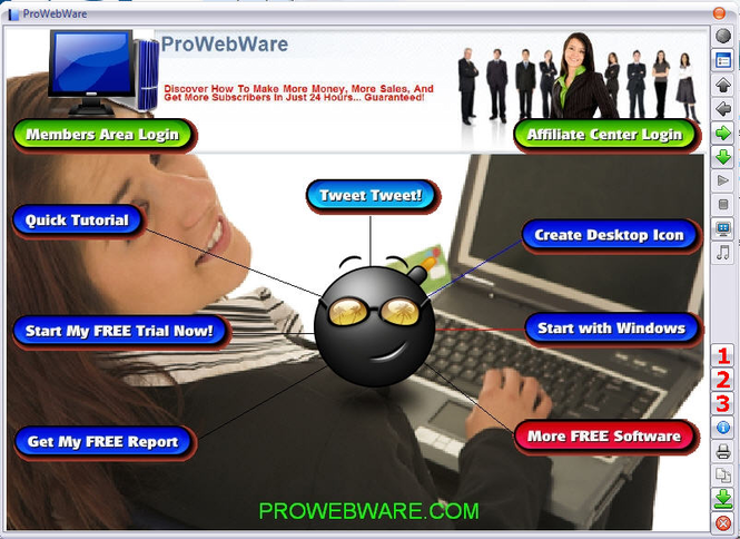 ProWebWare Online Marketing Software Screenshot