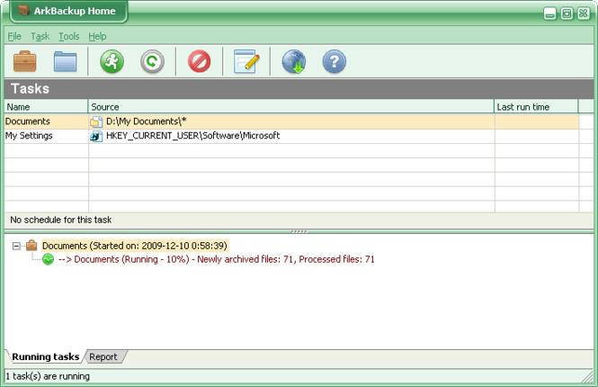 ArkBackup Home Screenshot