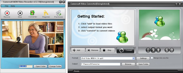 Camersoft MSN Video Recorder Screenshot 1