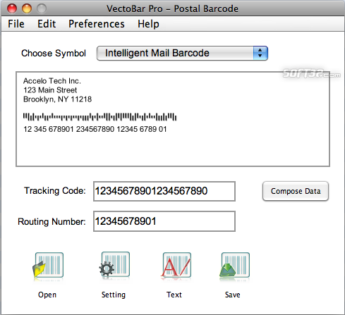 VectoBar Pro - Intelligent Mail Barcode Screenshot