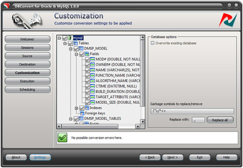 DBConvert for Oracle and MySQL Screenshot 1