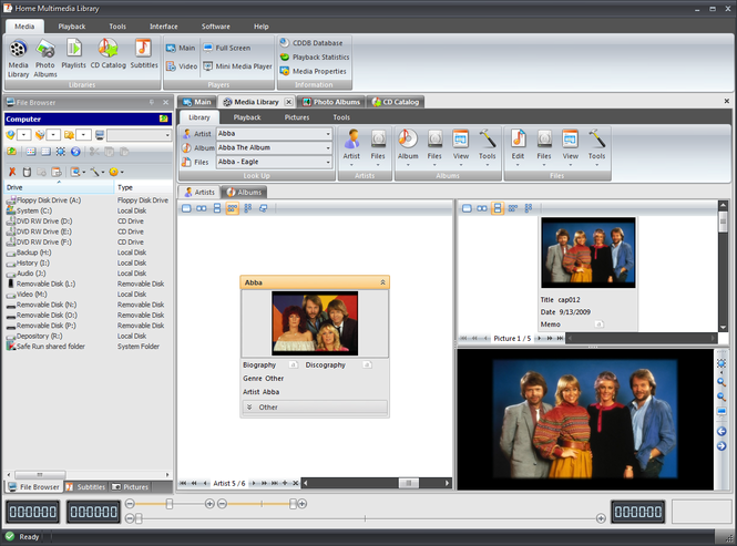 Home Multimedia Library Screenshot