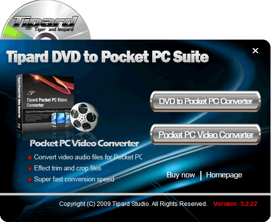 Tipard DVD to Pocket PC Suite Screenshot
