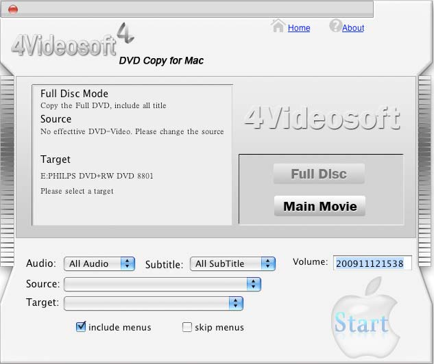 4Videosoft DVD Copy for Mac Screenshot 1