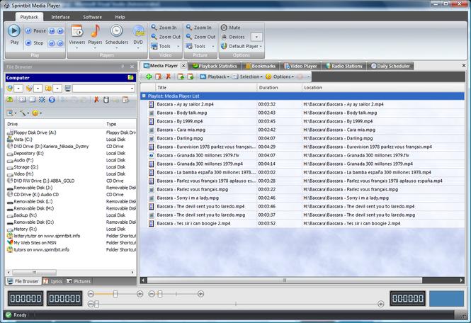 Sprintbit Media Player Screenshot
