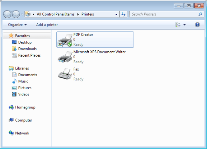 PDF Creator for Windows 7 Screenshot 1
