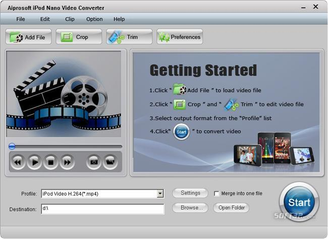 Aiprosoft iPod Nano Video Converter Screenshot 3