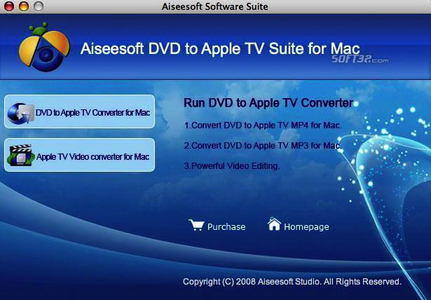 Aiseesoft DVD to Apple TV Suite for Mac Screenshot 3
