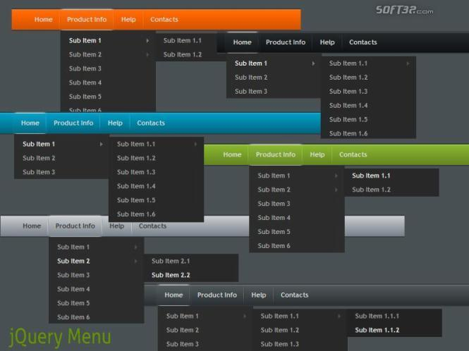 jQuery Menu Style 1 Screenshot 2