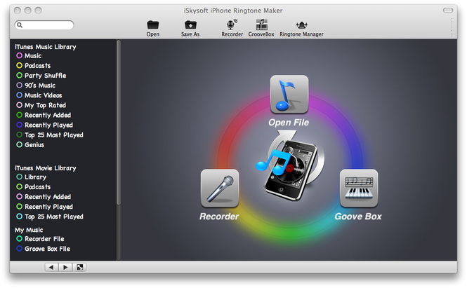 iSkysoft iPhone Ringtone Maker for Mac Screenshot 1