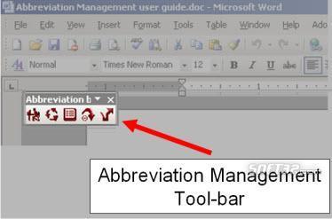 Abbreviation Management (Winword Plugin) Screenshot 2