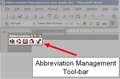 Abbreviation Management (Winword Plugin) 1
