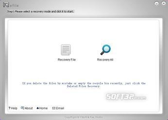 Refile Recovery File Green Software Screenshot