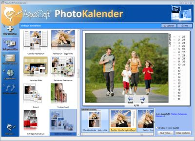 AquaSoft PhotoKalender Screenshot