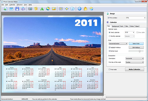 Photo Calendar Maker Screenshot
