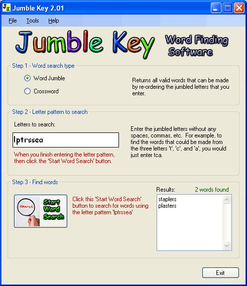 Jumble Key Screenshot