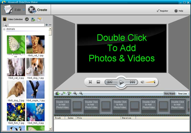 Aiseesoft SlideShow Maker Screenshot