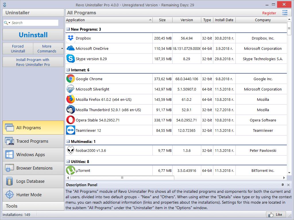 Revo Uninstaller Pro 1