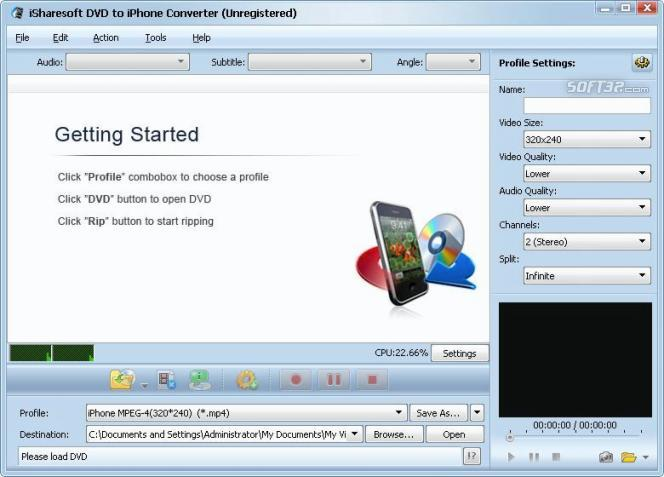 iSharesoft DVD to iPhone Converter Screenshot 1