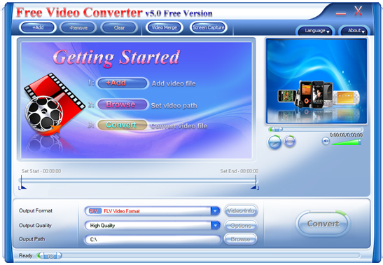 Abdio Free Video Converter Screenshot