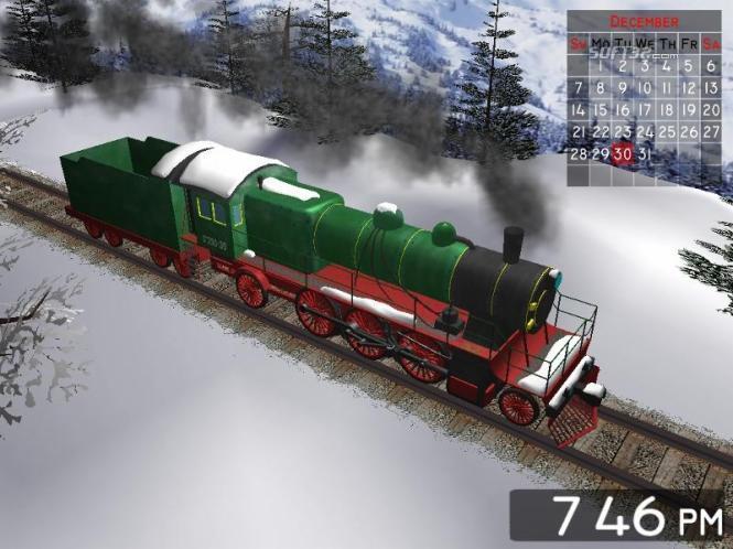 Winter Train 3D Screensaver Screenshot 3