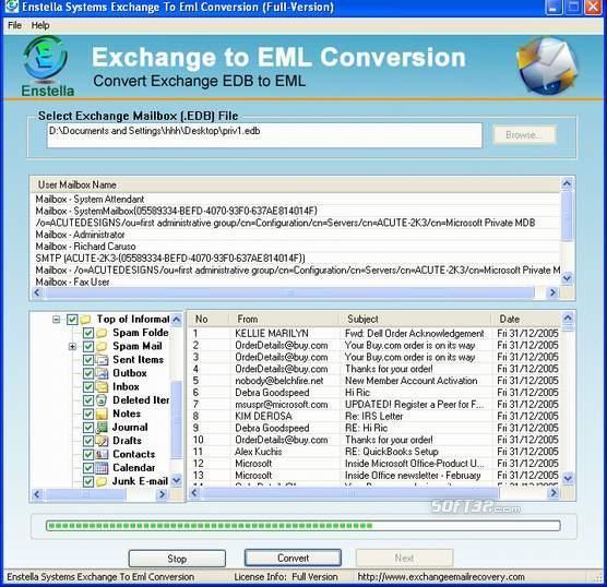 EDB to EML Conversion Screenshot 2