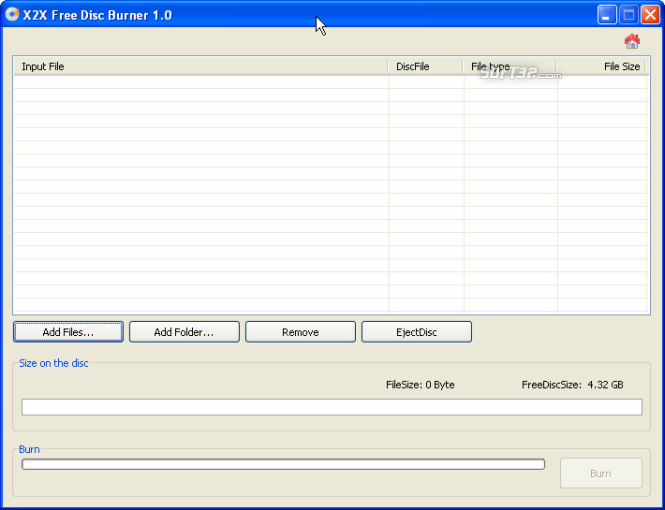 X2X Free Disc Burner Screenshot 2