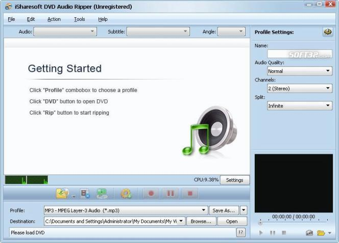 iSharesoft DVD Audio Ripper Screenshot