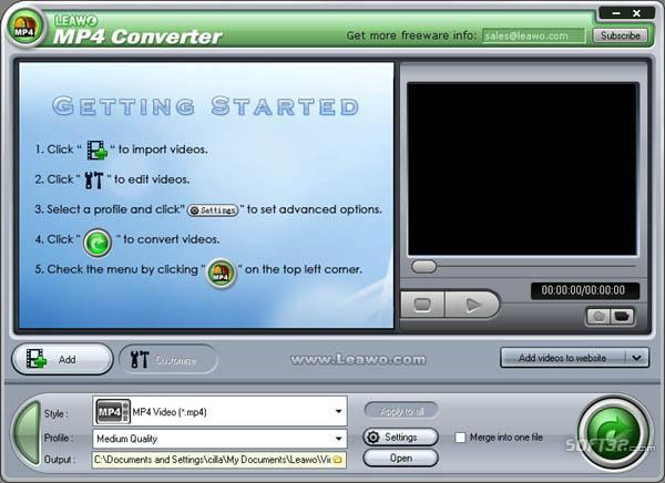 Leawo MP4 Converter Pro Screenshot 2