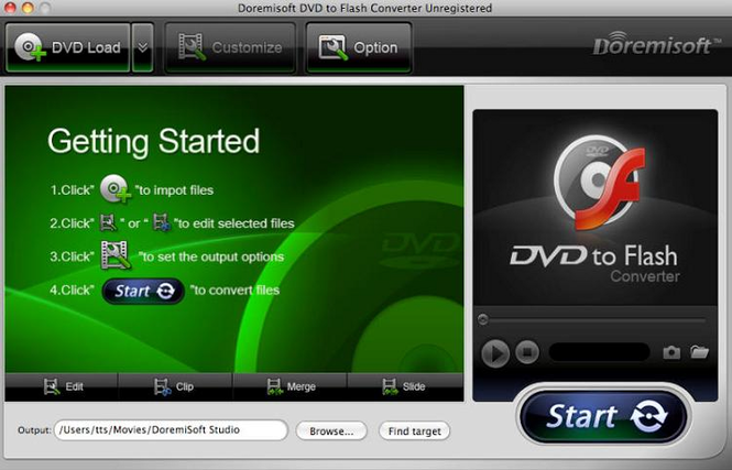 Doremisoft DVD to Flash Converter for Mac Screenshot