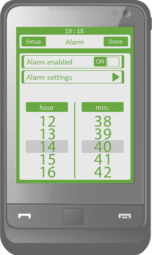 Touch Alarm Free Screenshot
