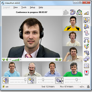 VideoPort SBS Video Conferencing Software Screenshot 1