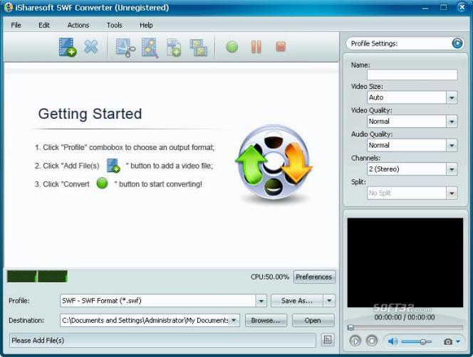 iSharesoft SWF Converter Screenshot 1