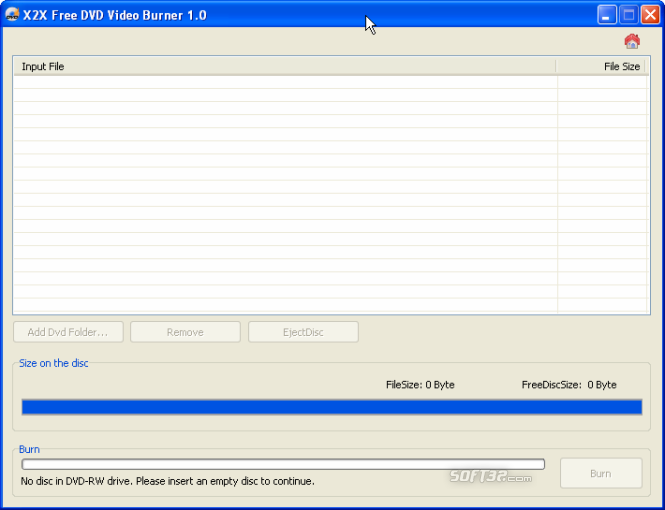 X2X Free DVD Video Burner Screenshot 2