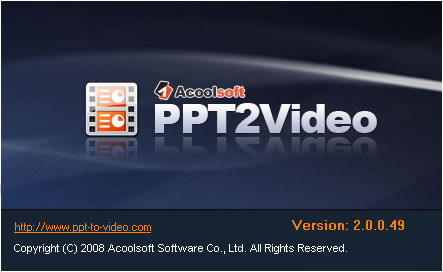 Acoolsoft PPT2Video Converter Screenshot