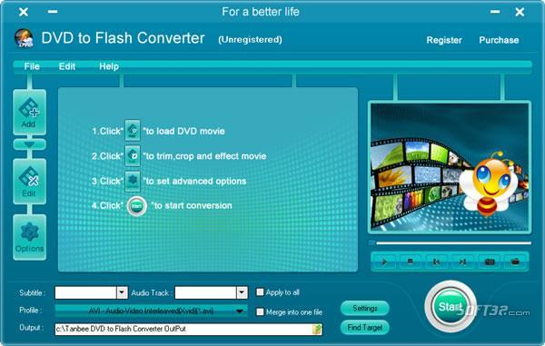 Tanbee DVD to Flash Converter Screenshot