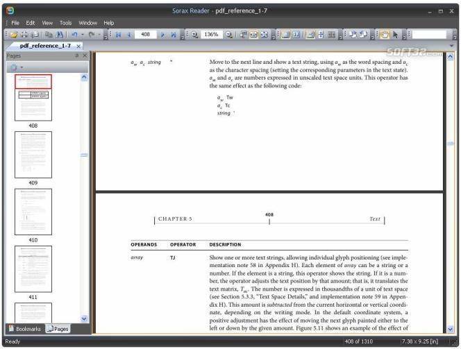 Sorax Reader Screenshot 2