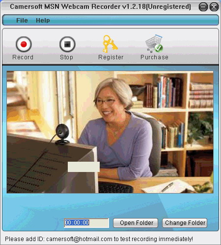 Camersoft MSN Webcam Recorder Screenshot 1