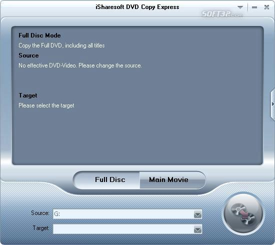 iSharesoft DVD Copy Express Screenshot