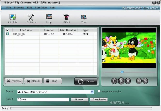 Nidesoft Flip Converter Screenshot 2