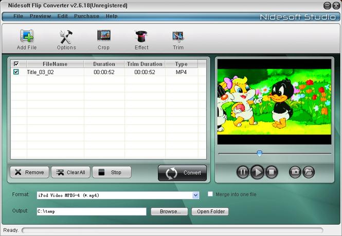 Nidesoft Flip Converter Screenshot 1