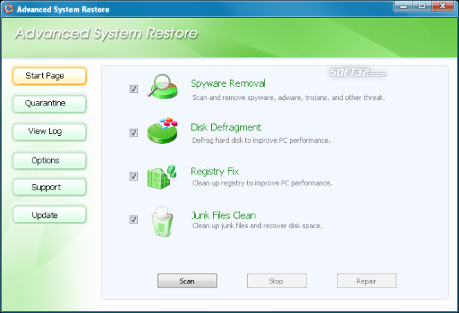 Advanced System Restore Screenshot 2