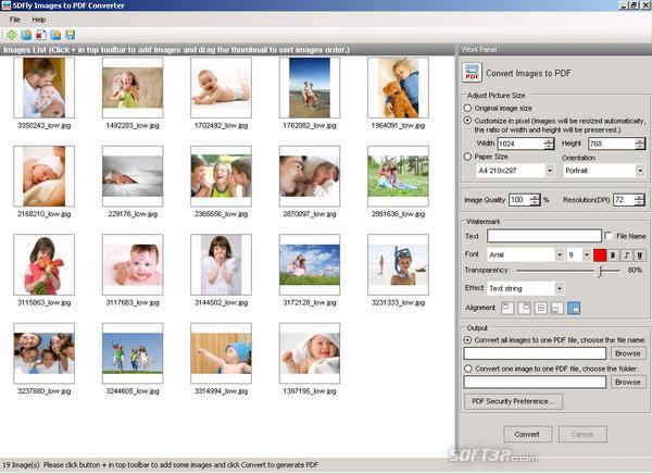 5DFly Images to PDF Converter Screenshot 2