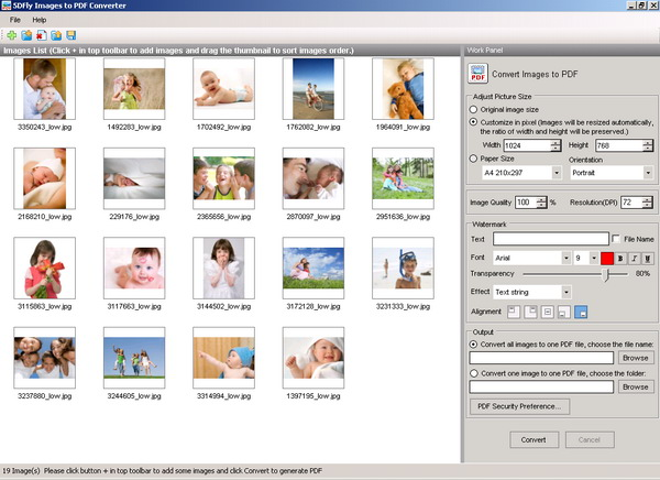 5DFly Images to PDF Converter Screenshot 1