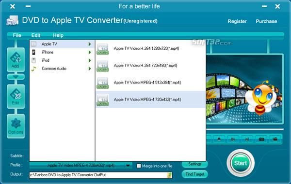 Tanbee DVD to Apple TV Converter Screenshot