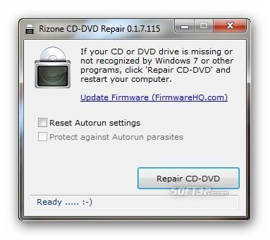 Rizone CD-DVD Repair Screenshot 1