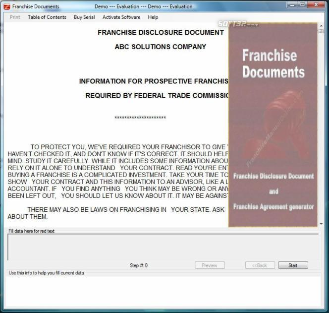 Franchise Documents Screenshot 2