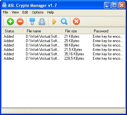 ASL Crypto Manager Screenshot