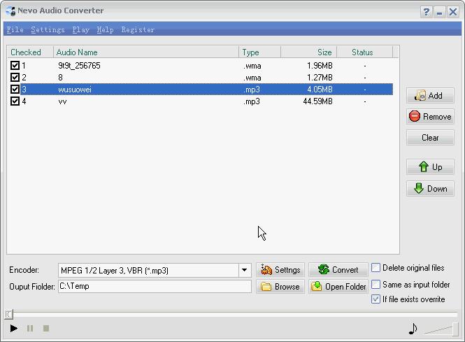 Nevo Audio Converter Screenshot